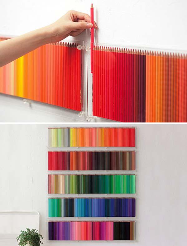 Dekorasi Bilik Pensil Warna