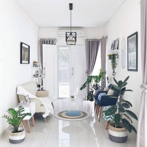 Deco Dinding Ruang Tamu Rumah Teres