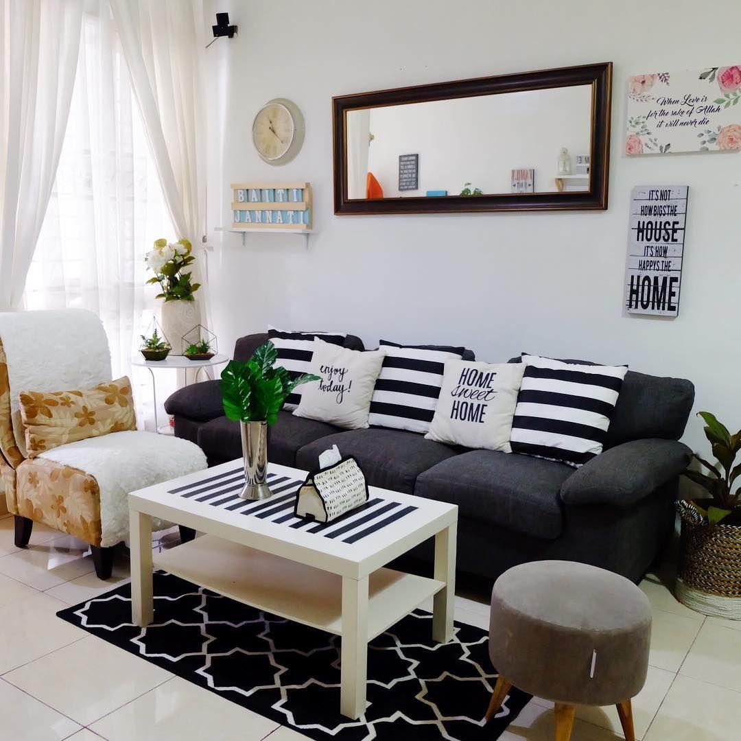 Deco Ruang Tamu Rumah Teres Kos Rendah