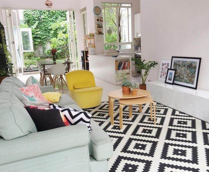 Gambar Susun Atur Ruang Tamu Rumah Teres