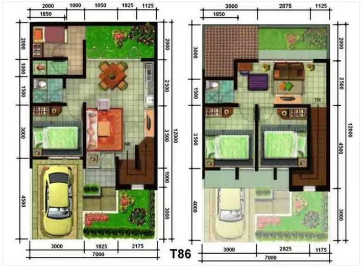 Reka Bentuk Rumah Kos Rendah 2 Tingkat