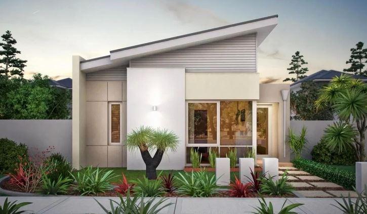 Reka Bentuk Rumah Teres 1 Tingkat Warna Putih