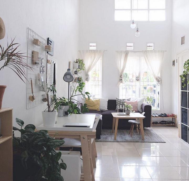 Warna Cat Dinding Ruang Tamu Rumah Teres